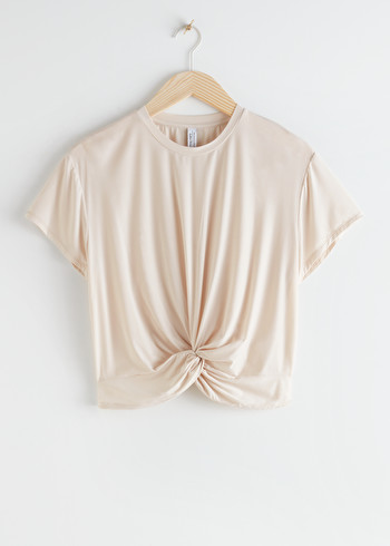 앤 아더 스토리즈 & OTHER STORIES Twist Knot Top,Light Beige