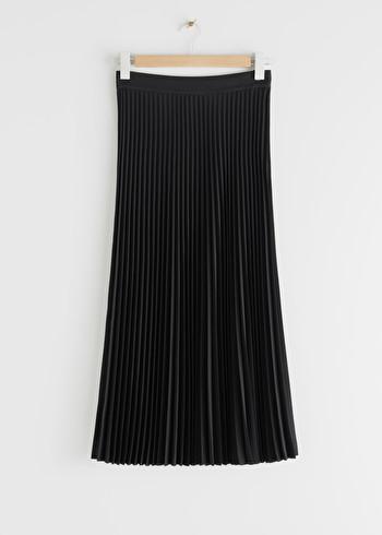 앤 아더 스토리즈 & OTHER STORIES Pleated Midi Skirt,Black