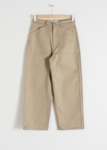 앤 아더 스토리즈 & OTHER STORIES Workwear Culotte Trousers,Beige
