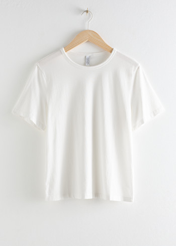 앤 아더 스토리즈 & OTHER STORIES Organic Cotton T-Shirt,White