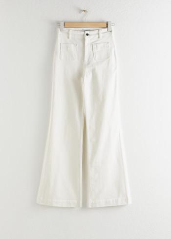 앤 아더 스토리즈 & OTHER STORIES Flared High Rise Jeans,Mid Blue