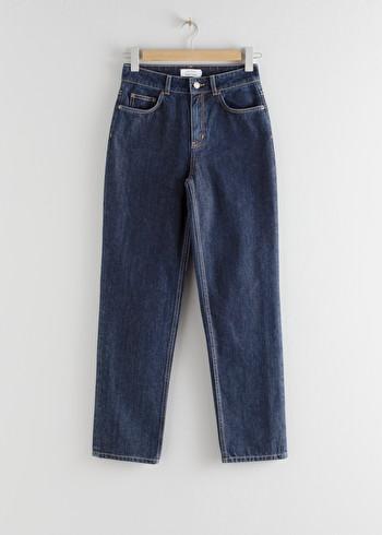 앤 아더 스토리즈 & OTHER STORIES Straight High Rise Jeans,White