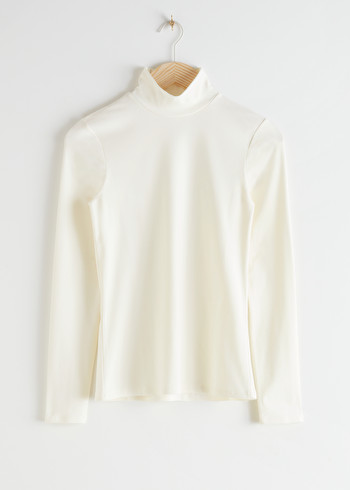 앤 아더 스토리즈 & OTHER STORIES Long Sleeve Turtleneck,White