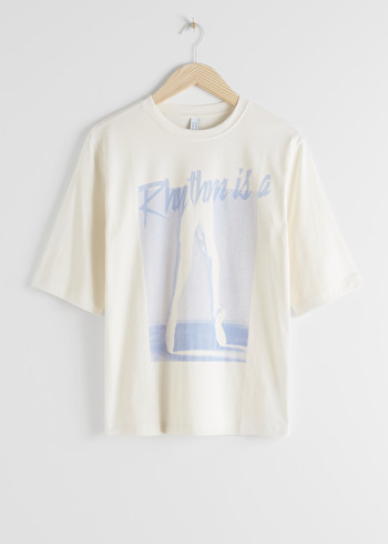 앤 아더 스토리즈 & OTHER STORIES Organic Cotton Dance Print T-Shirt,Off White