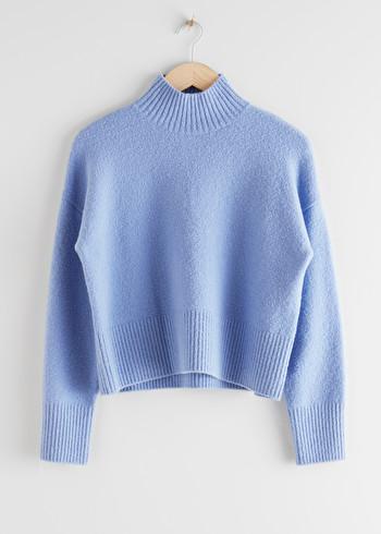 앤 아더 스토리즈 & OTHER STORIES Cropped Mock Neck Sweater,Black