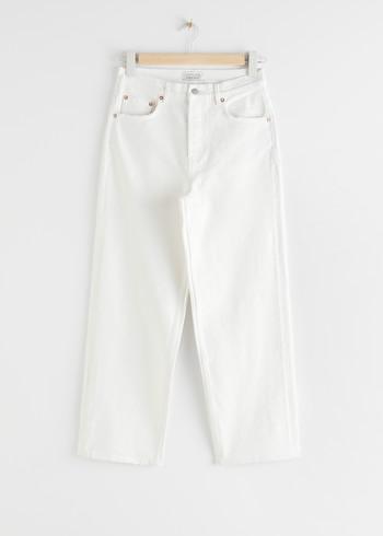 앤 아더 스토리즈 & OTHER STORIES Loose Mid Rise Jeans,Used Black