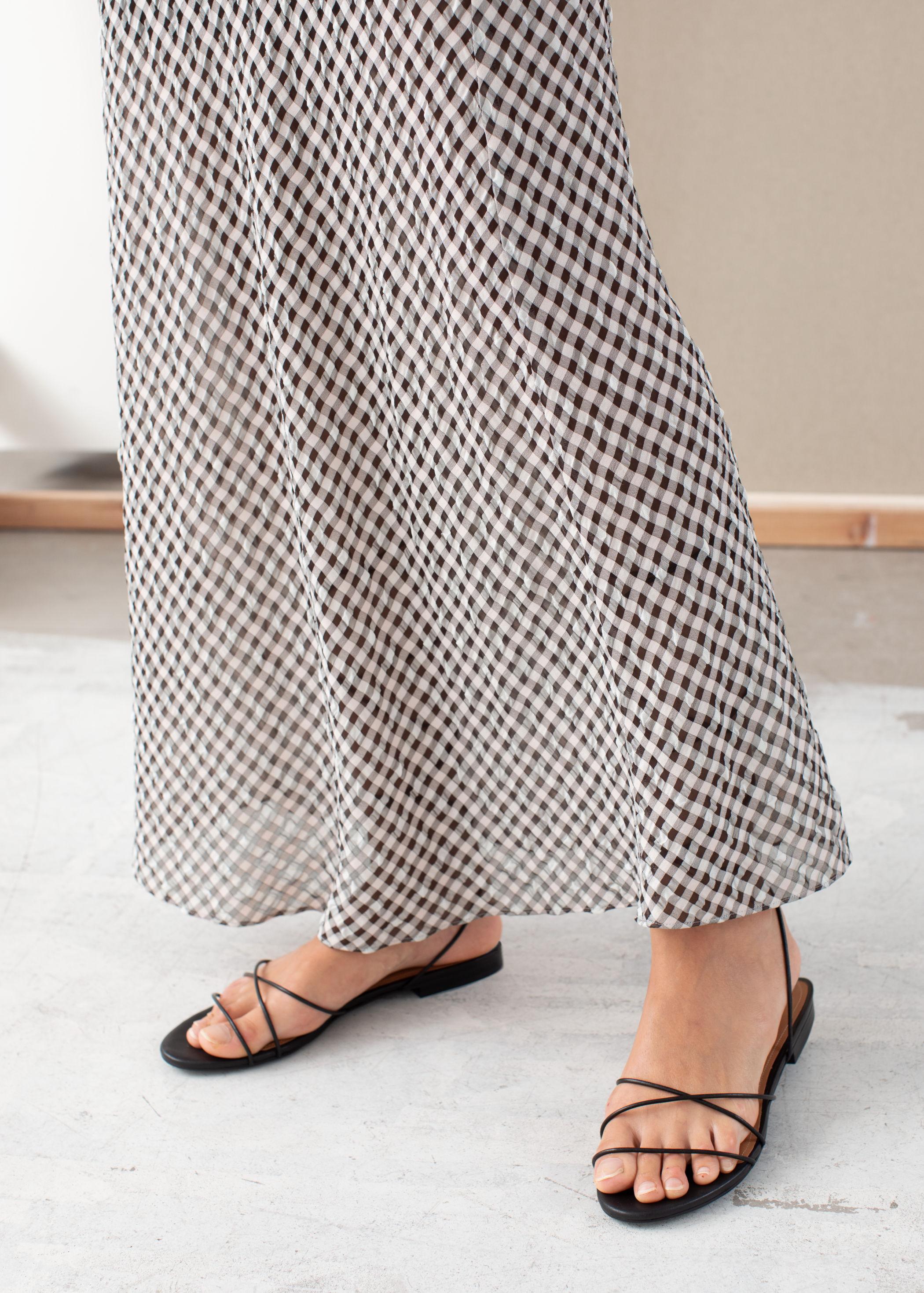 앤 아더 스토리즈 미디 스커트 & OTHER STORIES Gingham Midi Skirt,Gingham