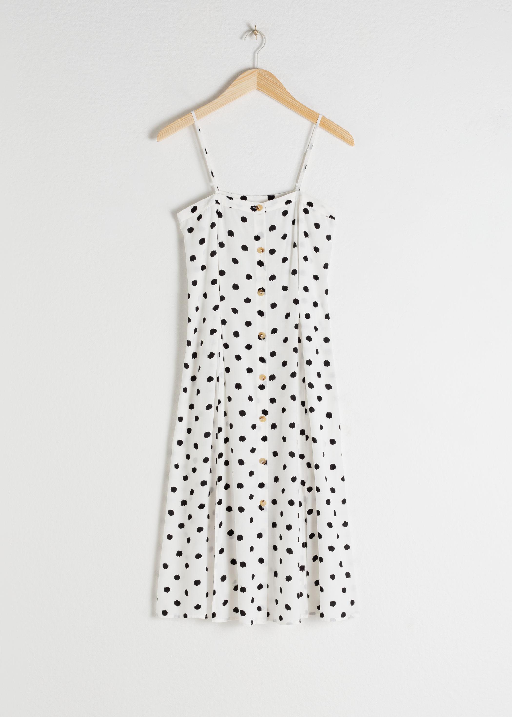 앤 아더 스토리즈 & OTHER STORIES Polka Dot Button Up Midi Dress,Polka Dot