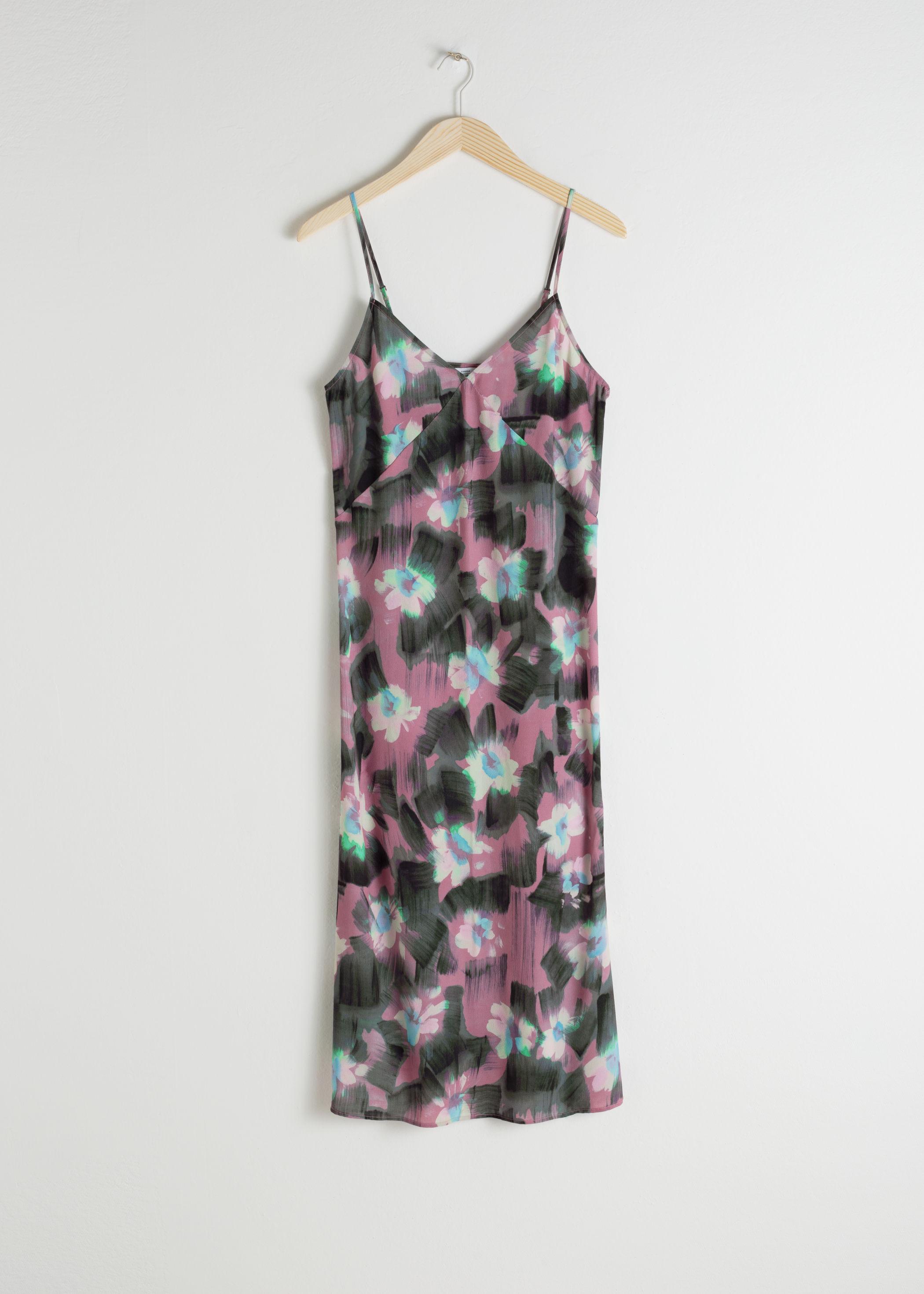 앤 아더 스토리즈 & OTHER STORIES Watercolour Floral Slip Dress,Watercolour Floral