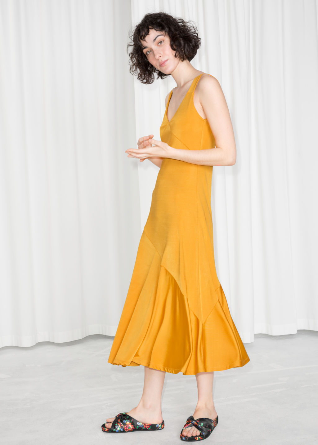 yellow dress flowy asymmetrical flowy midi dress yellow midi dresses 9342