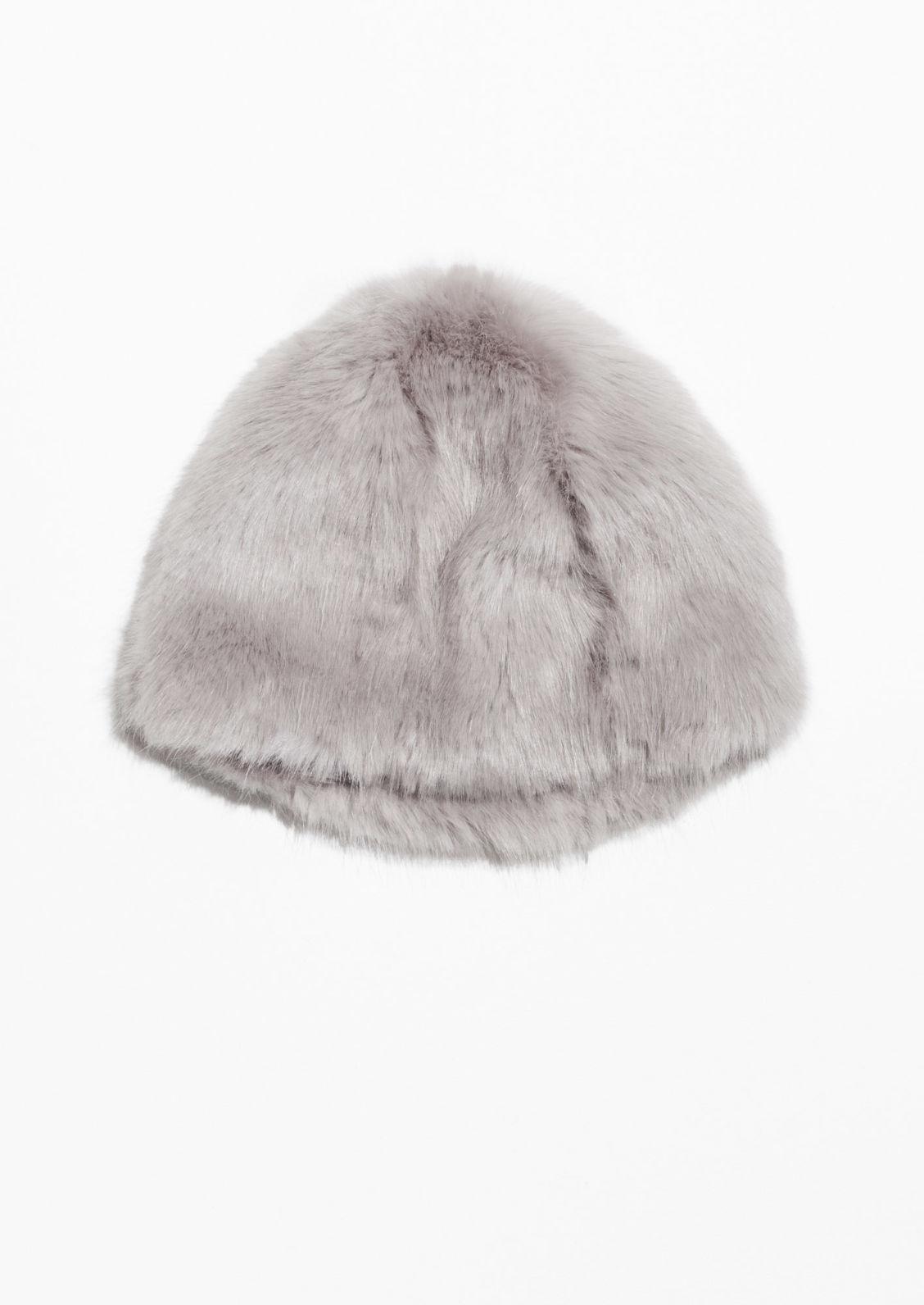 91c0d7c5725 Faux Fur Hat - Grey - Female First Shopping