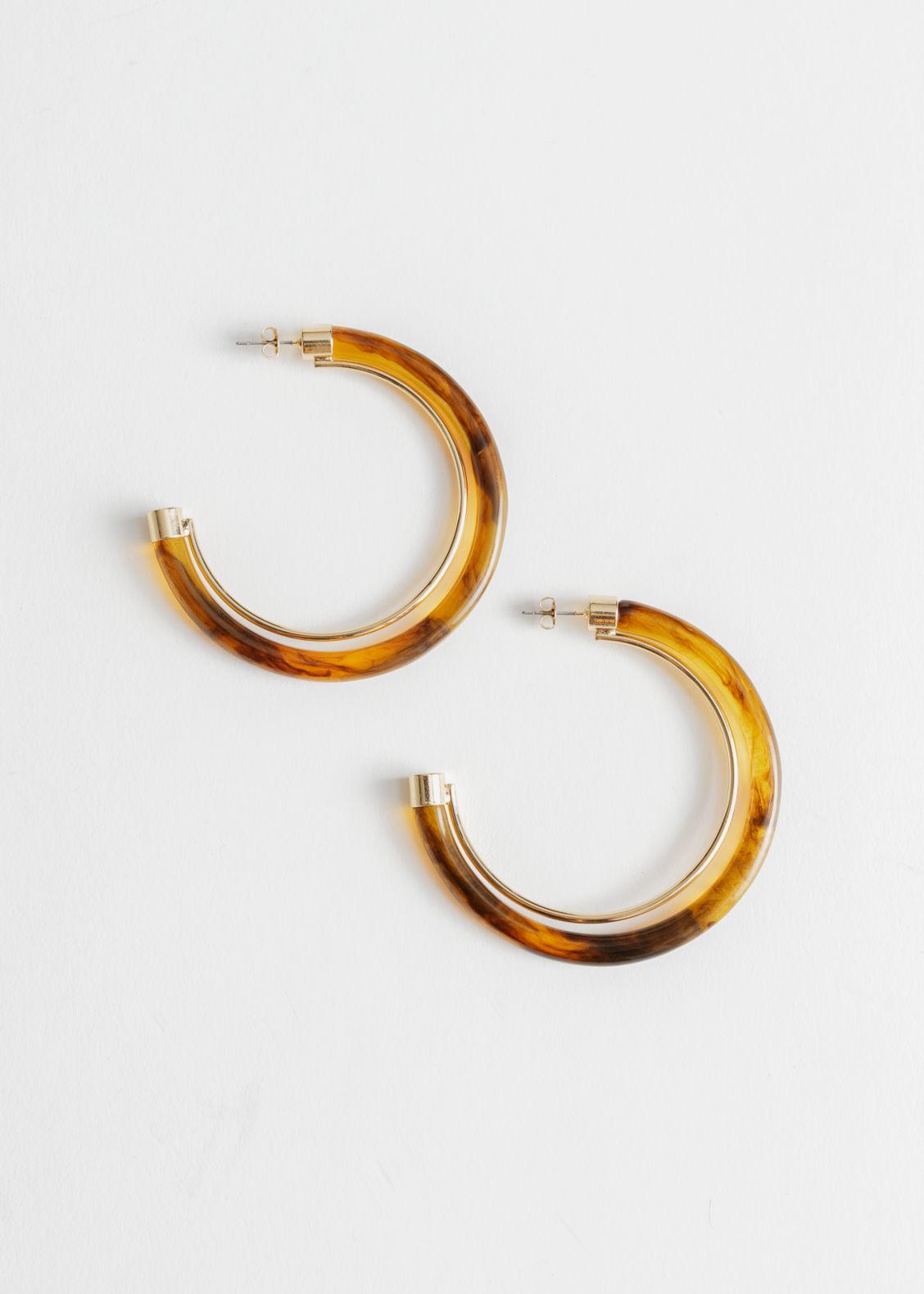 094ed6e9a6e5d9 Mismatch Tortoise Resin Earrings - Tortoise - Drop earrings ...