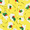 Fabric Swatch image of Stories fit and flare dress in yellow