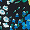Fabric Swatch image of Stories long sleeve floral swimsuit in black