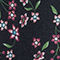 Fabric Swatch image of Stories floral print circle skirt  in black