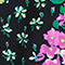 Fabric Swatch image of Stories floral wrap swimsuit  in black