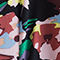 Fabric Swatch image of Stories printed flared shirt dress in black