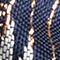 Fabric Swatch image of Stories crane print brocade hairband in blue