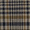 Fabric Swatch image of Stories oversized structured plaid blazer in grey