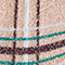 Fabric Swatch image of Stories plaid glitter socks in beige