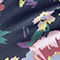 Fabric Swatch image of Stories semi sheer floral socks in black