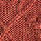 Fabric Swatch image of Stories floral cable knit sweater in orange
