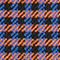 Fabric swatch No Angle Image of Stories Hourglass Houndstooth Blazer in Orange