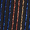 Fabric Swatch image of Stories glitter stripe belted trousers in black
