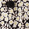 Fabric swatch No Angle Image of Stories Side Tie Leopard Mini Dress in Black