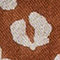 Fabric Swatch image of Stories leopard wool scarf in orange