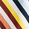 Fabric Swatch image of Stories belted rainbow stripe swimsuit in white