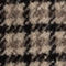 Fabric swatch No Angle Image of Stories Houndstooth Wool Blend Mini Skirt in Beige
