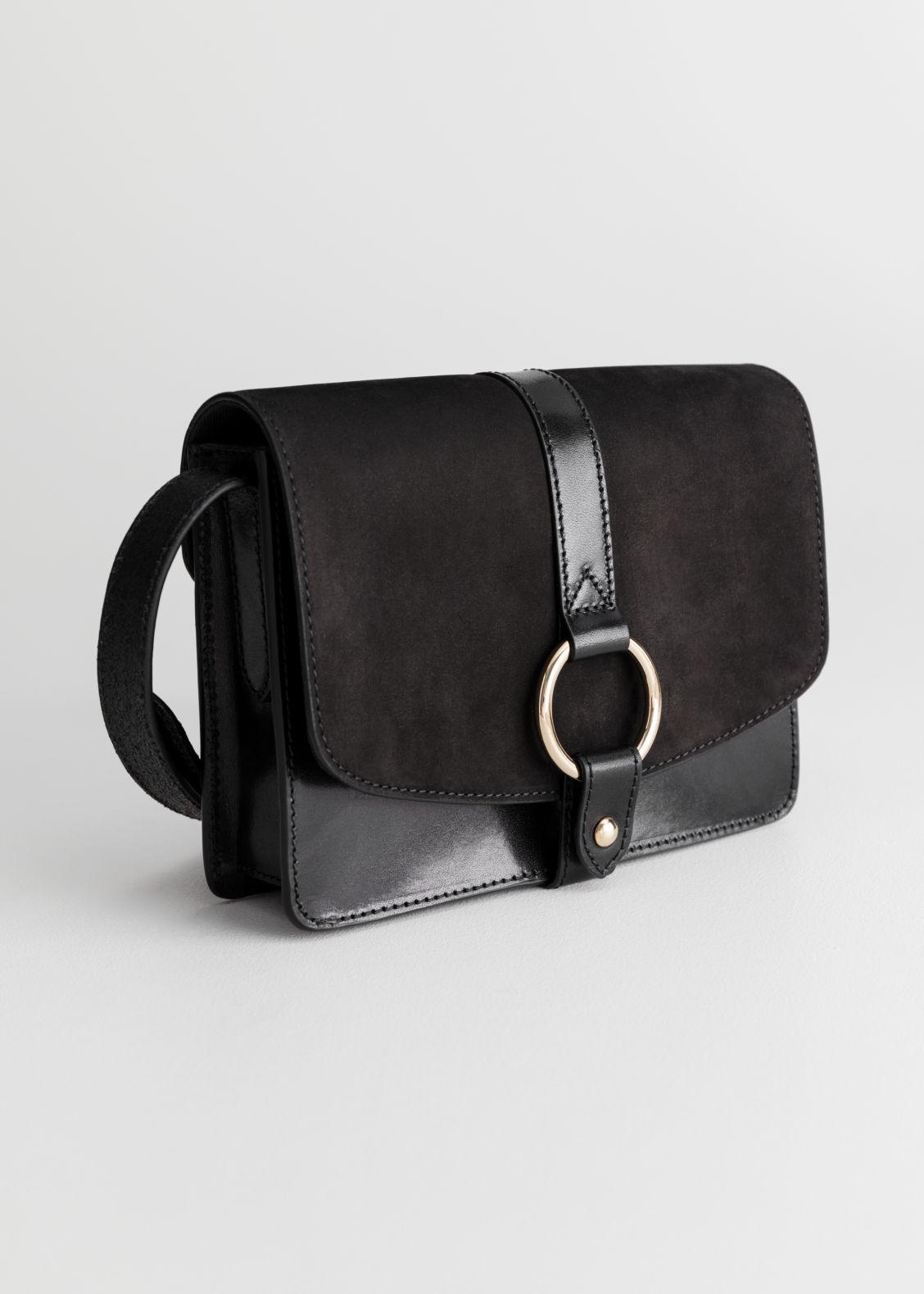 Black Gold Ring Bag