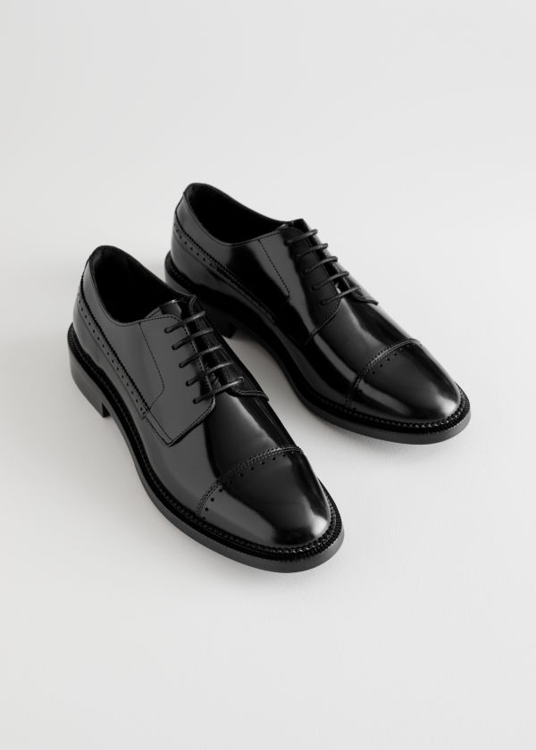 Leather Oxfords new in edit mum a porter edit