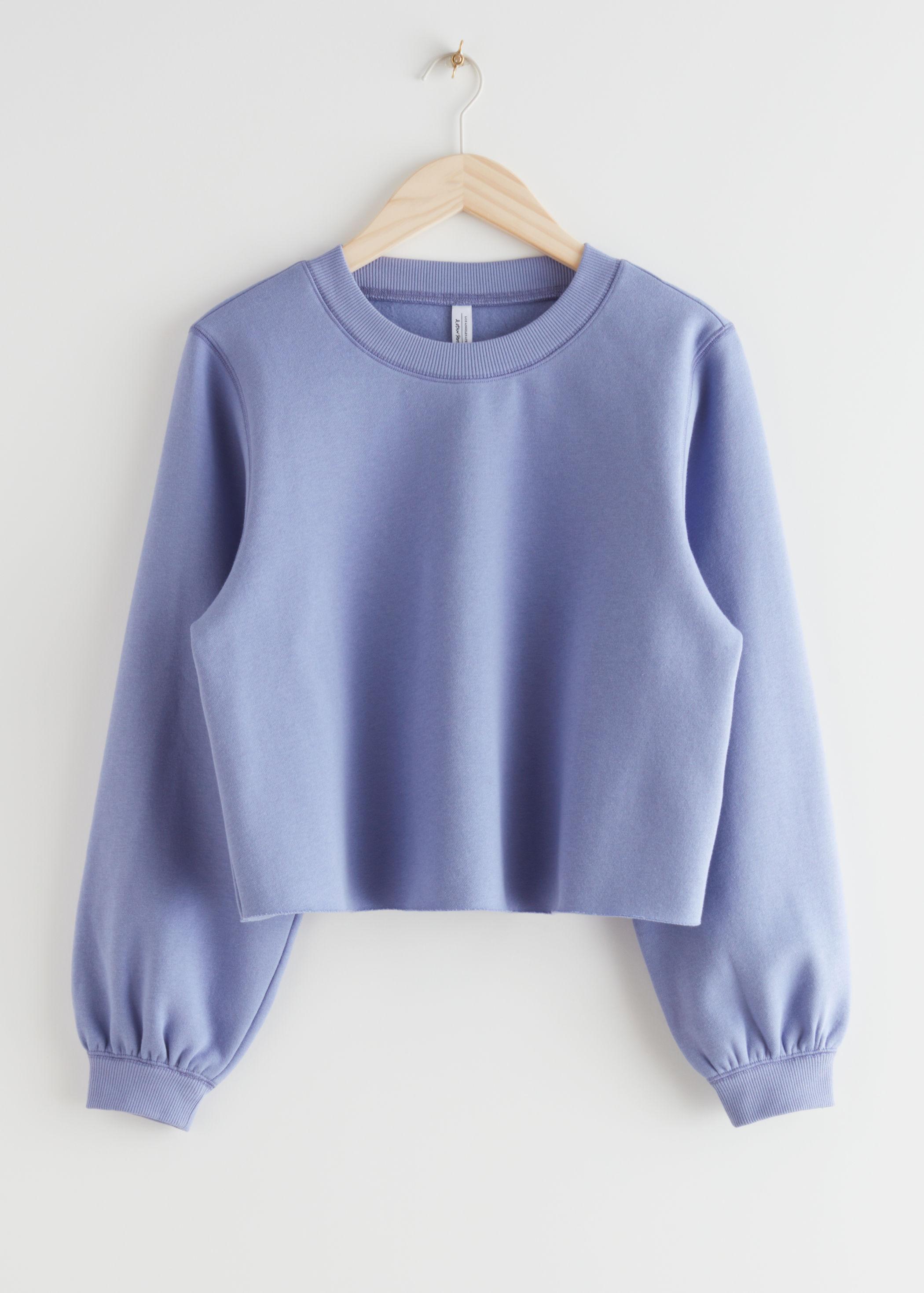 앤 아더 스토리즈 & OTHER STORIES Boxy Jersey Sweater,Purple
