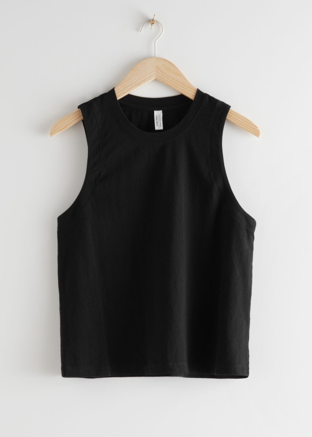 StillLife Front Image of Stories Relaxed Tank Top in Black