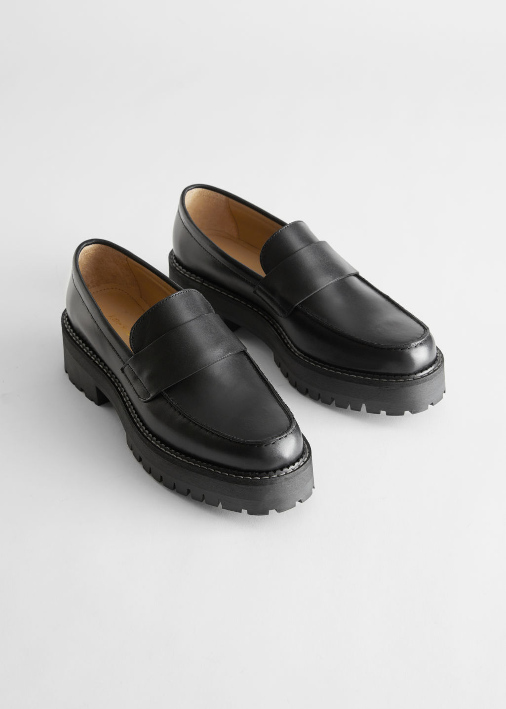 Chunky Leather Penny Loafers & Other Stories