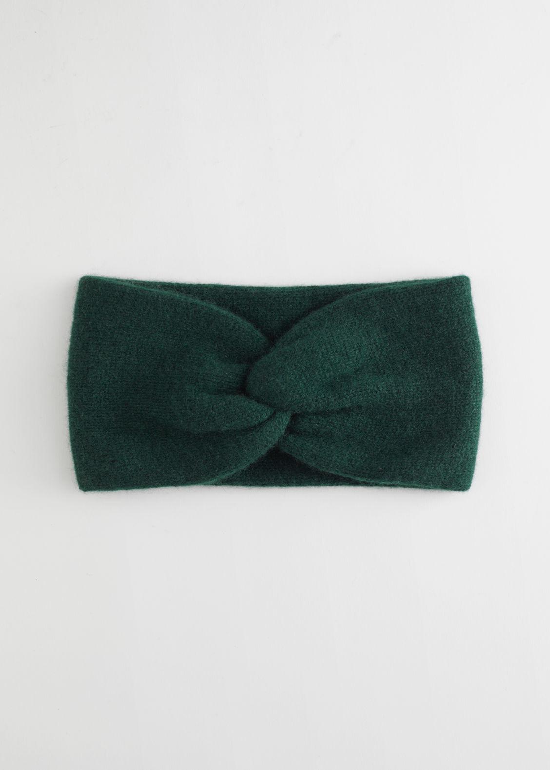 앤 아더 스토리즈 헤드 밴드 & OTHER STORIES Cashmere Twist Knot Headband,Dark Green