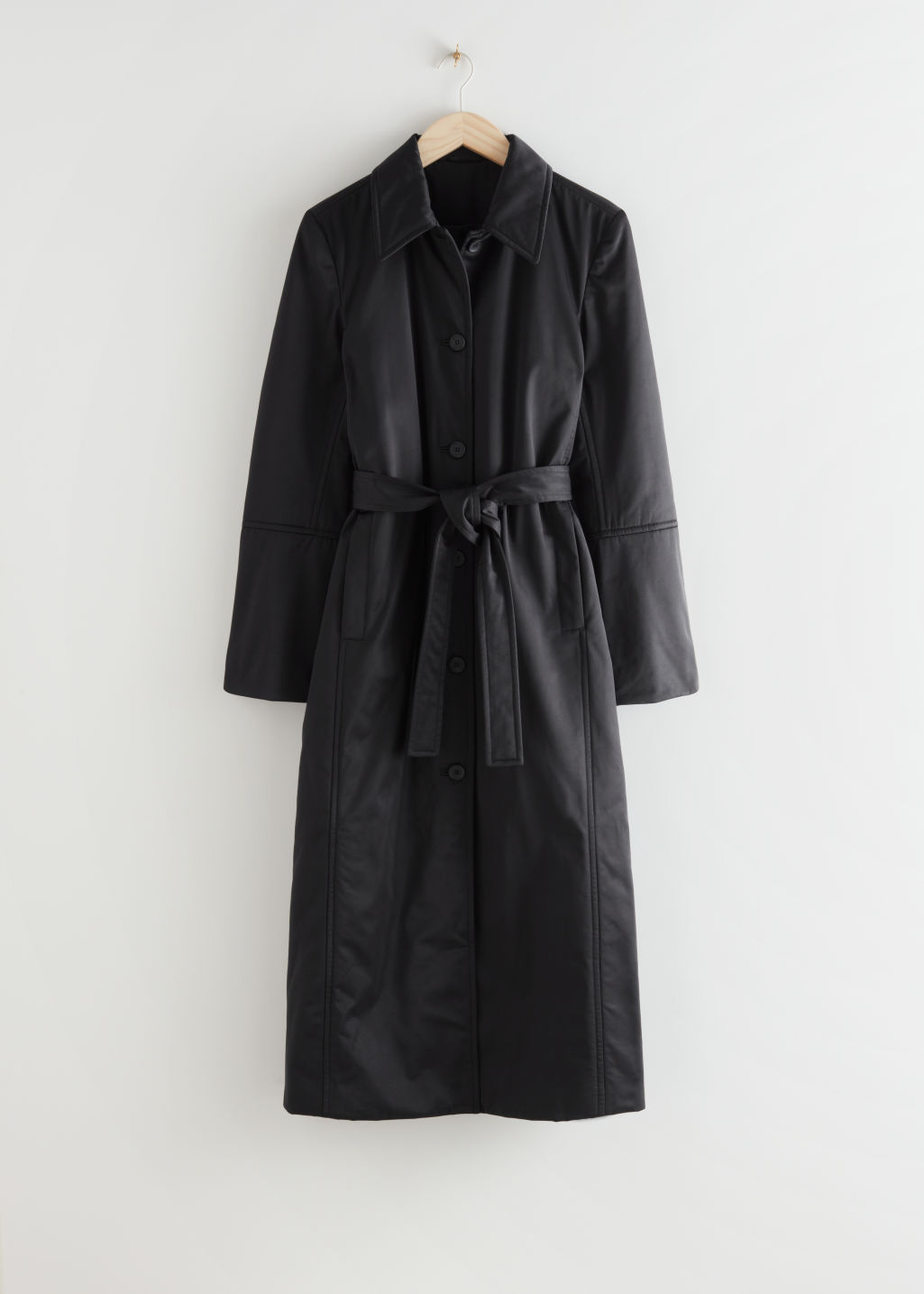 Fitted Belted Padded Coat  & Other Stories