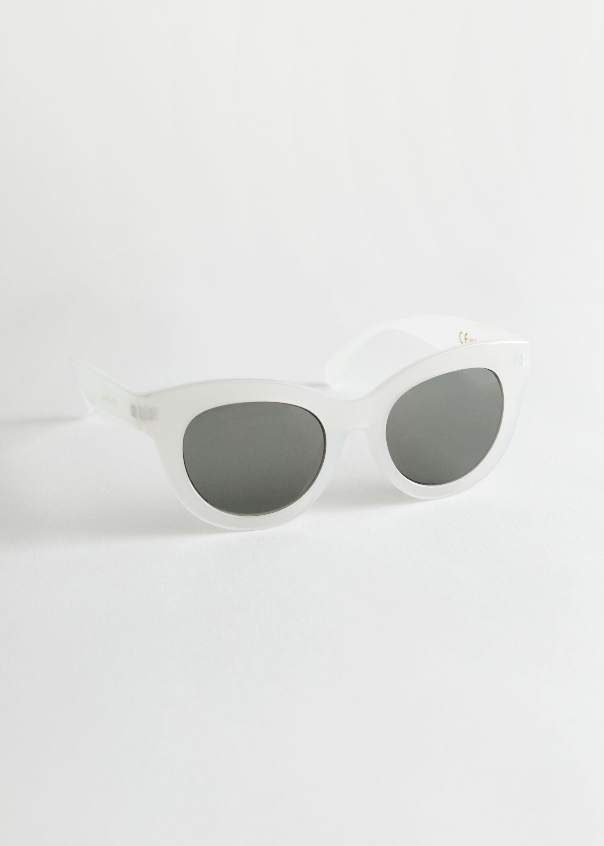 앤 아더 스토리즈 오버사이즈 라운드 선글라스 & OTHER STORIES Oversized Rounded Sunglasses,White