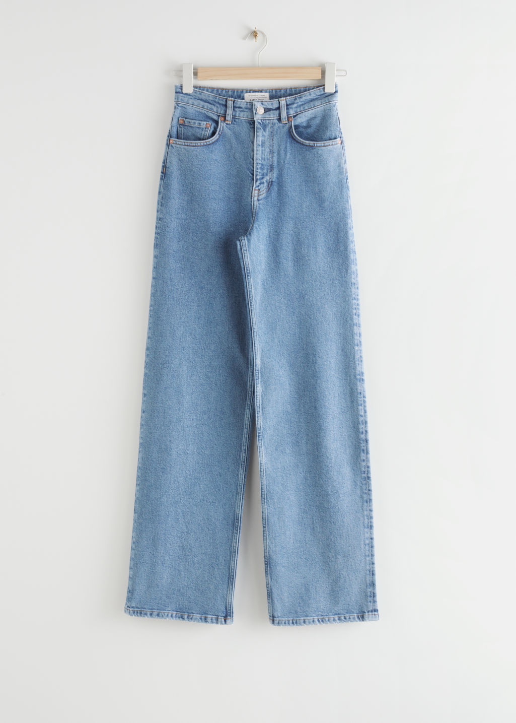 StillLife Front Image of Stories Relaxed High Rise Jeans in Blue