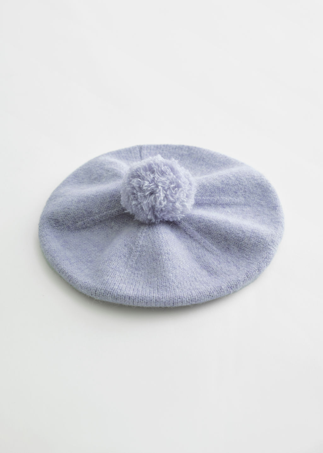 앤 아더 스토리즈 베레모 & OTHER STORIES Fuzzy Wool Blend Beret,Lilac