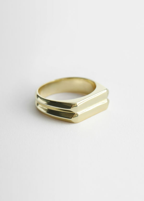 Embossed Signet Ring
