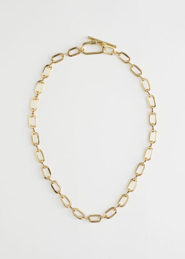 Bar Closure Chain Necklace