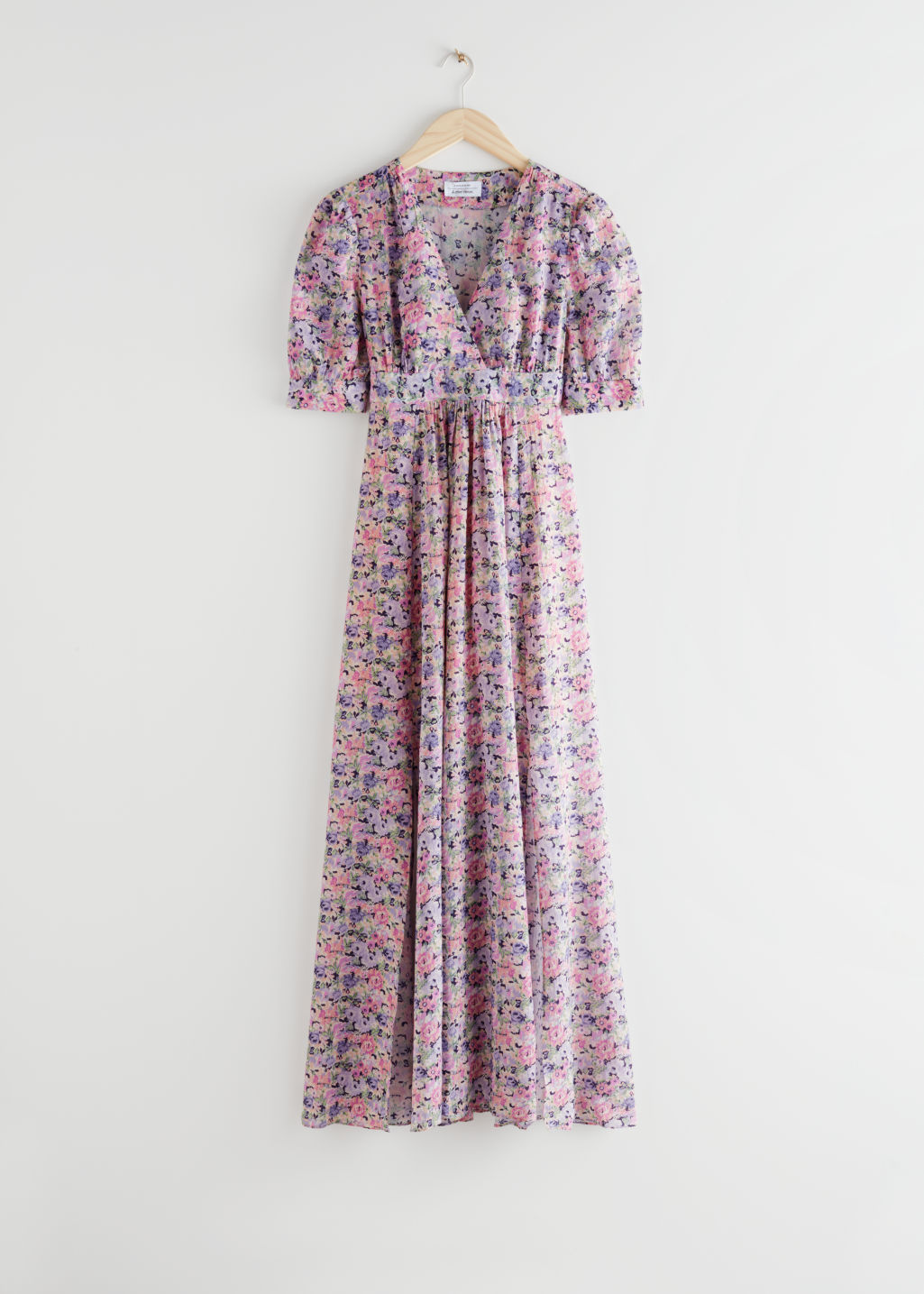 StillLife Front Image of Stories Floral Print Maxi Dress in Pink