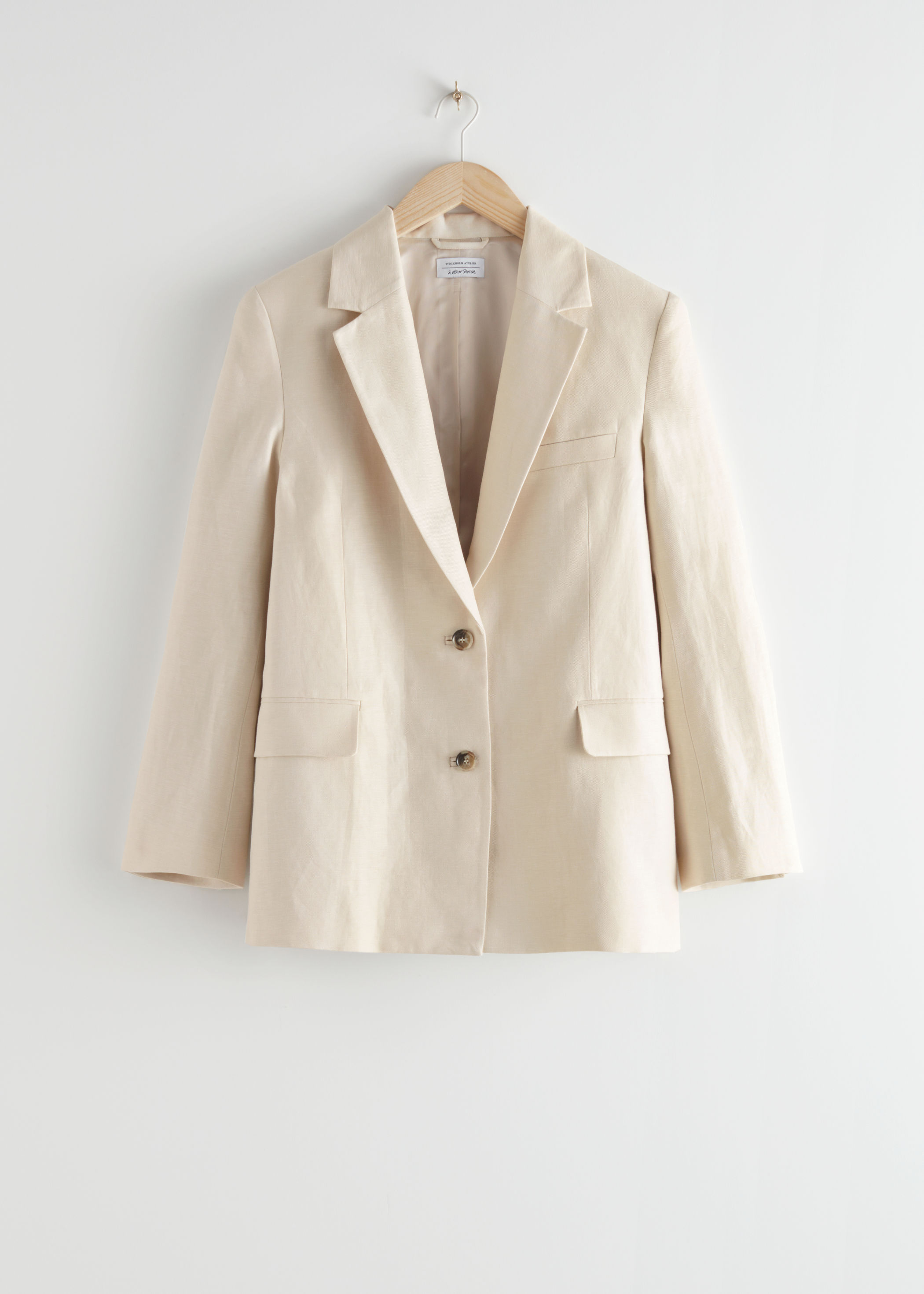앤 아더 스토리즈 & OTHER STORIES Oversized Boxy Blazer,Beige