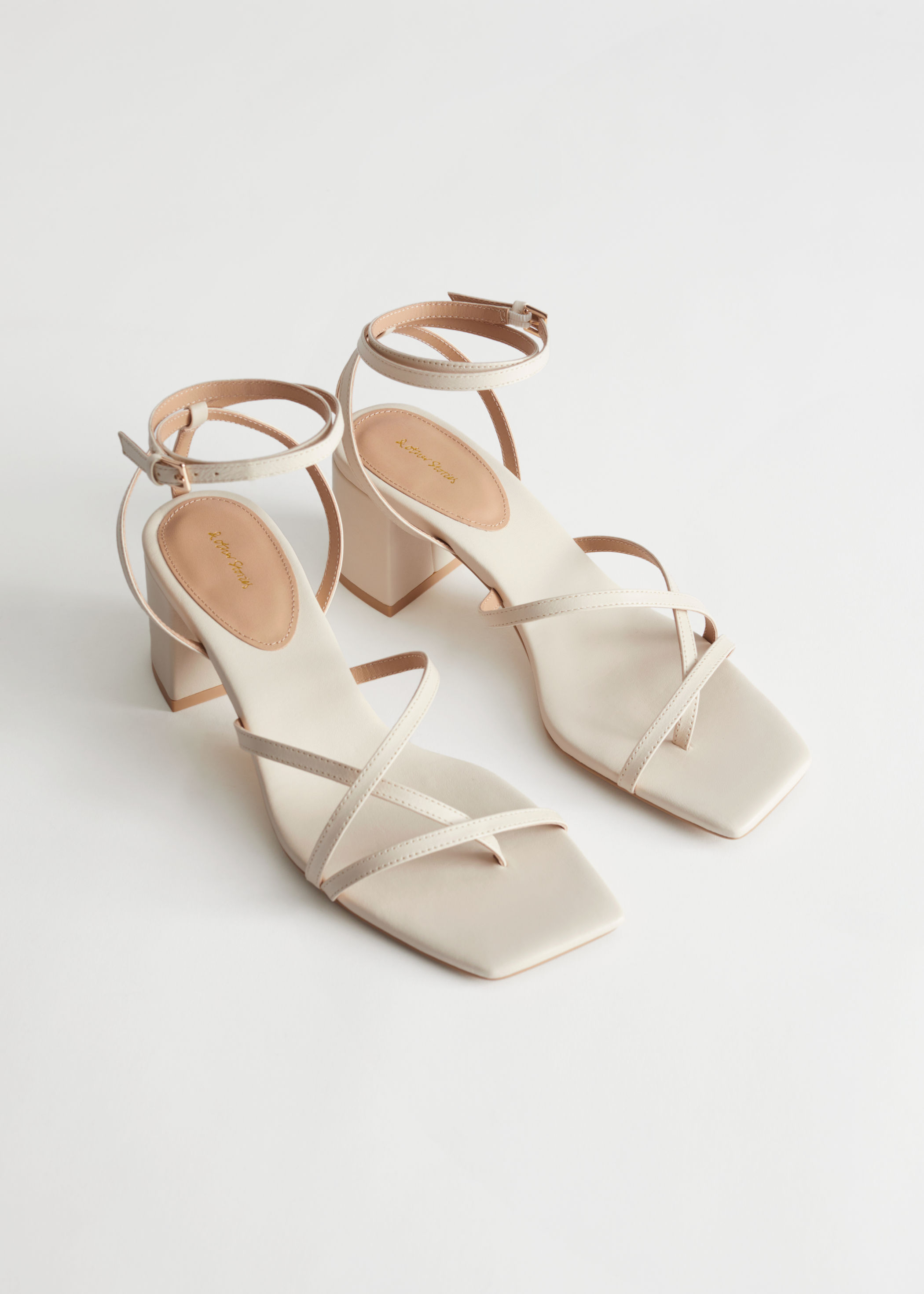 Rejina Pyo x & Other Stories Strappy Leather Heeled Sandals