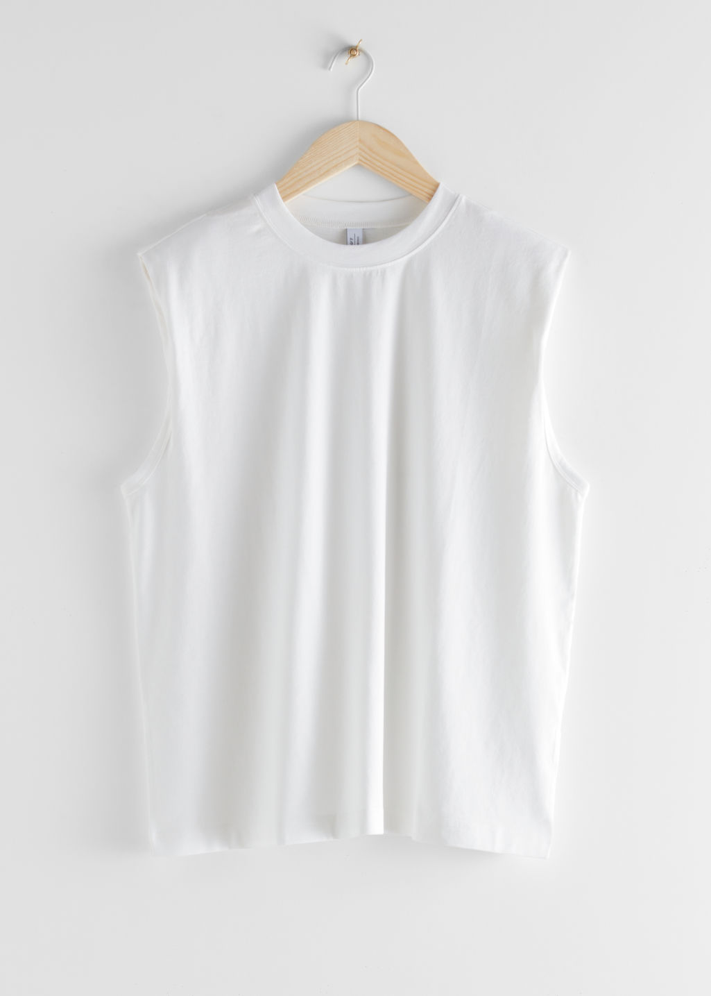 StillLife Front Image of Stories Crewneck Tank Top in White
