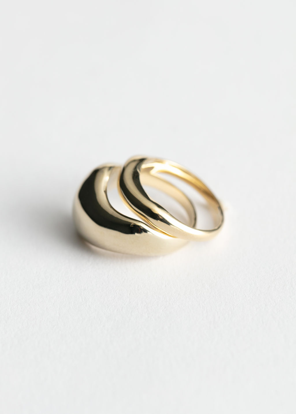 StillLife Front Image of Stories Two Pack Rings in Gold