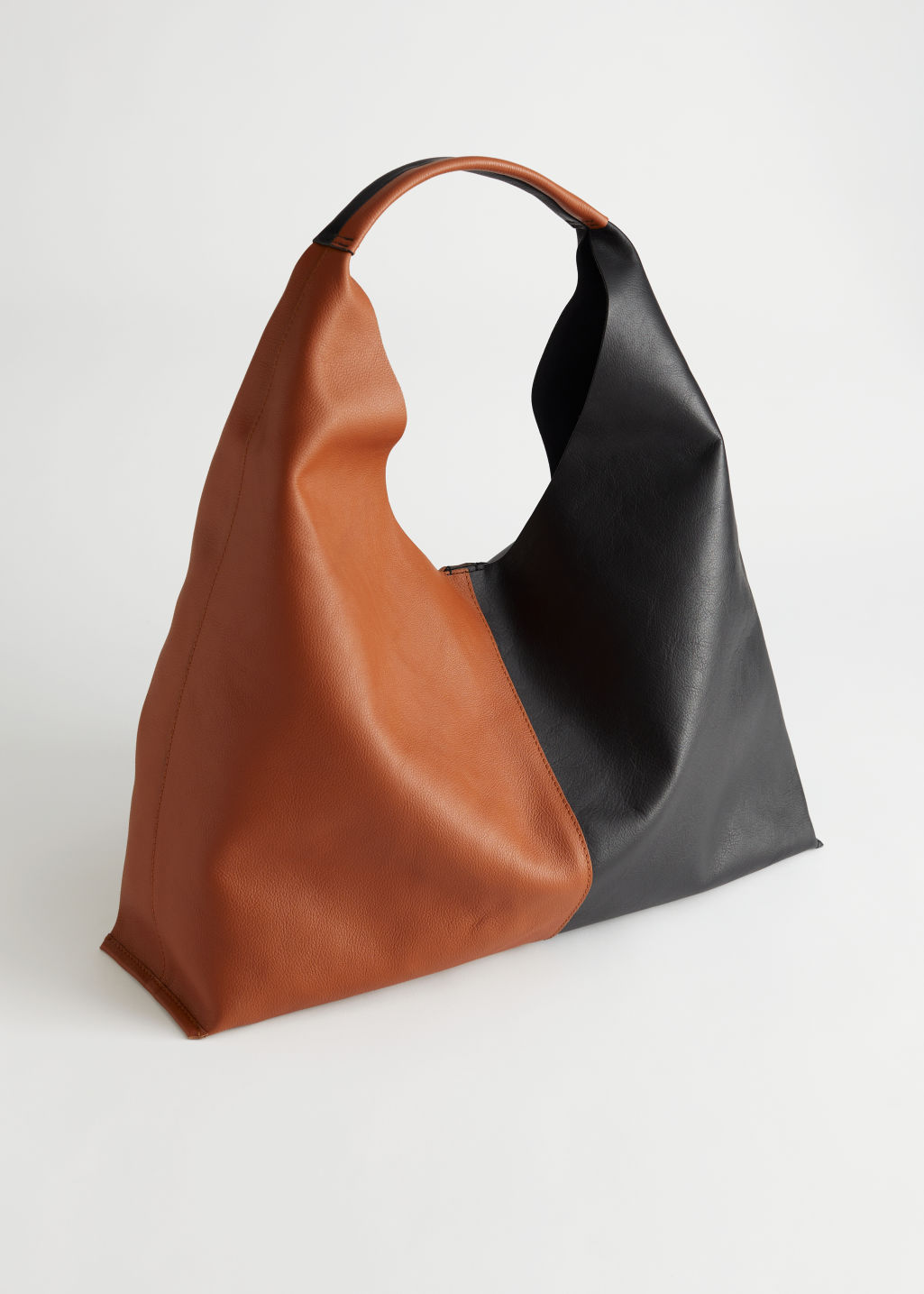 Duo Tone Leather Tote Bag & Other Stories